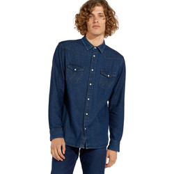 textil Herr Långärmade skjortor Wrangler W5MSLW301 Blå