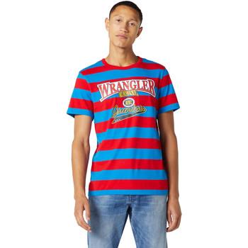 textil Herr T-shirts Wrangler W7E1FKXKL Blå