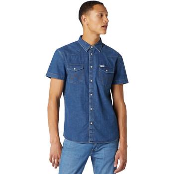 textil Herr Kortärmade skjortor Wrangler W5J05D50B Blå