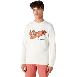 textil Herr Sweatshirts Wrangler W6A5HA737 Vit