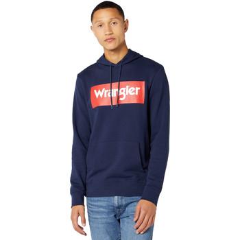 textil Herr Sweatshirts Wrangler W6B9HA114 Blå