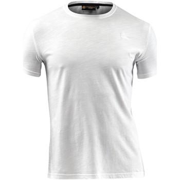 textil Herr T-shirts Lumberjack CM60343 004 517 Vit