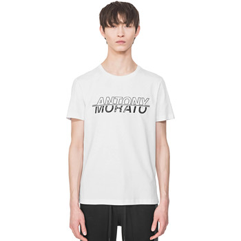 textil Herr T-shirts Antony Morato MMKS01816 FA100144 Vit