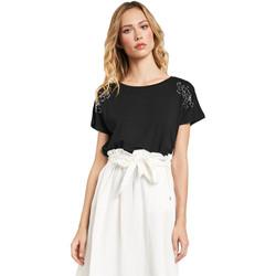 textil Dam T-shirts Gaudi 011FD64022 Svart