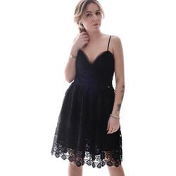 textil Dam Korta klänningar Fracomina FR20SP531 Svart