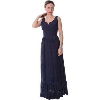 textil Dam Långklänningar Fracomina FR20SP588 Blå