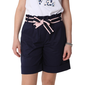 textil Dam Shorts / Bermudas Fracomina FR20SP606 Blå