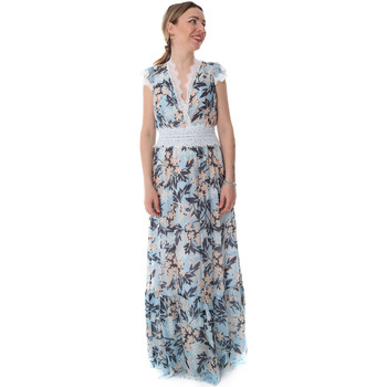 textil Dam Långklänningar Fracomina FR20SP432 Blå