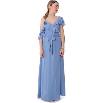 textil Dam Långklänningar Fracomina FR20SP031 Blå