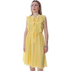 textil Dam Korta klänningar Fracomina FR20SP536 Gul