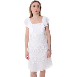 textil Dam Korta klänningar Fracomina FR20SP584 Vit
