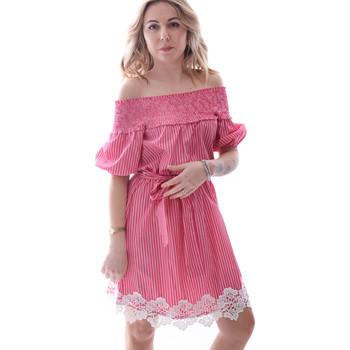 textil Dam Korta klänningar Fracomina FR20SP526 Röd