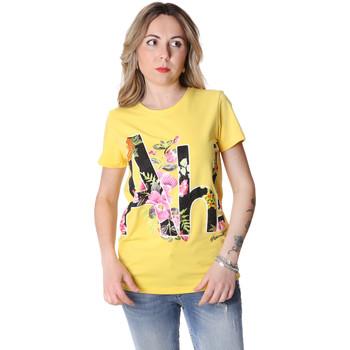 textil Dam T-shirts Fracomina FR20SP368 Gul
