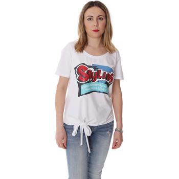 textil Dam T-shirts Fracomina FR20SP303 Vit