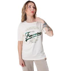 textil Dam T-shirts Fracomina FR20SP305 Vit