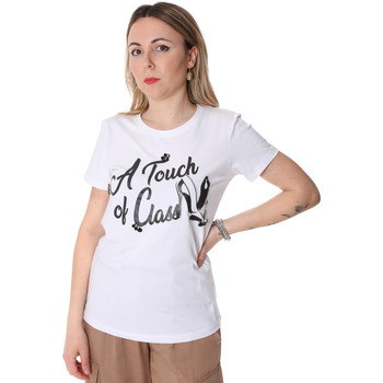 textil Dam T-shirts Fracomina FR20SP306 Vit