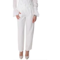 textil Dam Chinos / Carrot jeans Fracomina FR20SP164 Vit