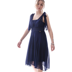 textil Dam Korta klänningar Fracomina FR20SP599 Blå