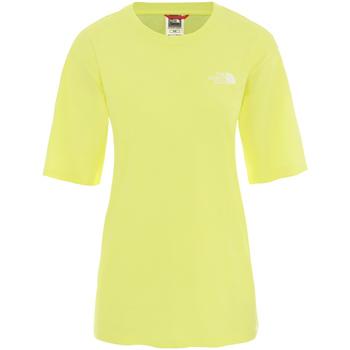 textil Dam T-shirts The North Face NF0A4CESVC51 Gul