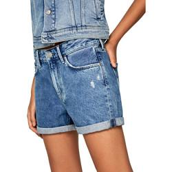 textil Dam Shorts / Bermudas Pepe jeans PL800847HC7 Blå