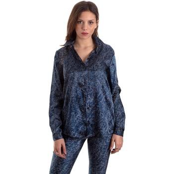 textil Dam Skjortor / Blusar Versace B0HVB601S0683904 Blå