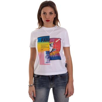 textil Dam T-shirts Versace B2HVB7V630331003 Vit