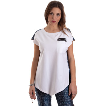 textil Dam T-shirts Versace D3HVB657S0683904 Vit