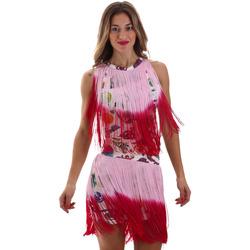 textil Dam Korta klänningar Versace D2HVB406S0777K67 Vit