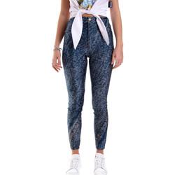 textil Dam Leggings Versace A1HVB009S0684904 Blå