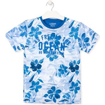 textil Pojkar T-shirts Losan 013-1003AL Blå