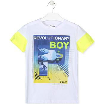 textil Pojkar T-shirts Losan 013-1006AL Vit