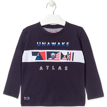 textil Pojkar Långärmade T-shirts Losan 015-1002AL Blå