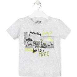 textil Barn T-shirts Losan 015-1010AL Grå