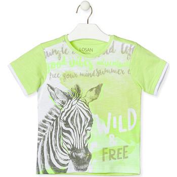 textil Barn T-shirts Losan 015-1011AL Grön