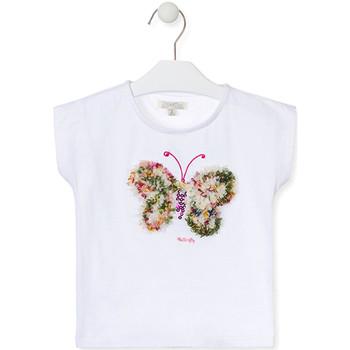 textil Flickor T-shirts Losan 016-1790AL Vit