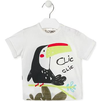 textil Barn T-shirts Losan 017-1012AL Vit