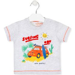 textil Barn T-shirts Losan 017-1015AL Grå