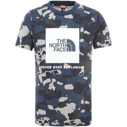 textil Barn T-shirts The North Face NF0A3BS2M7Z1 Blå