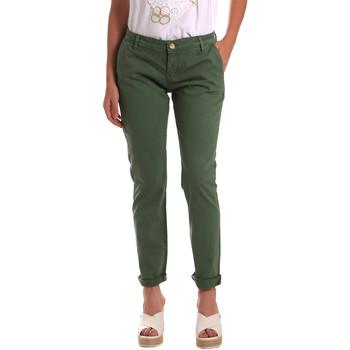 textil Dam Chinos / Carrot jeans Gaudi 811BD25009 Grön