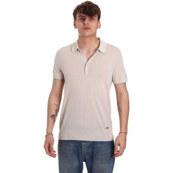 textil Herr Kortärmade pikétröjor Gaudi 011BU53011 Beige