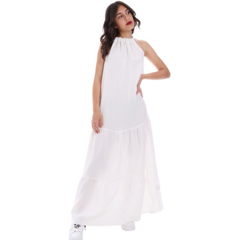 textil Dam Långklänningar Gaudi 011FD15073 Vit