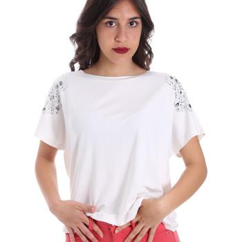 textil Dam T-shirts Gaudi 011FD64022 Vit