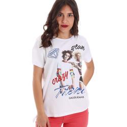 textil Dam T-shirts Gaudi 011BD64037 Vit