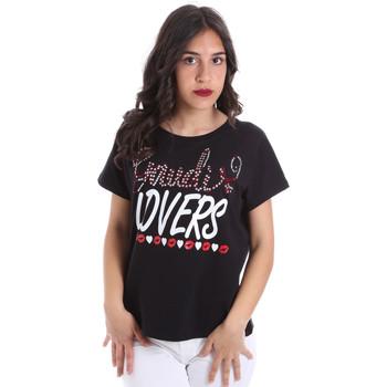 textil Dam T-shirts Gaudi 011BD64008 Svart