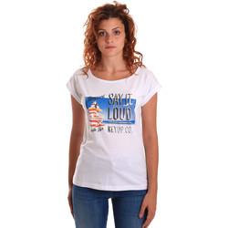 textil Dam T-shirts Key Up 5D72S 0001 Vit