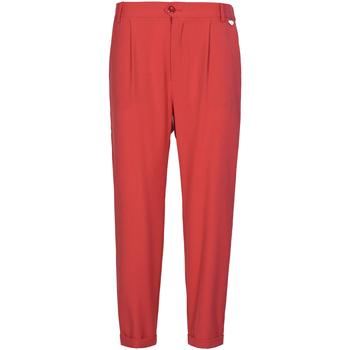 textil Dam Chinos / Carrot jeans Café Noir JP228 Röd