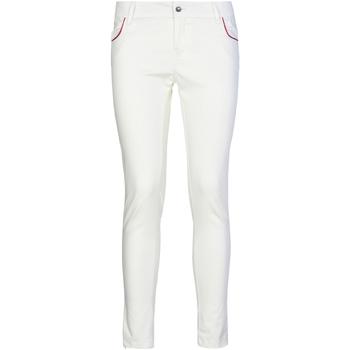 textil Dam Chinos / Carrot jeans Café Noir JP235 Vit