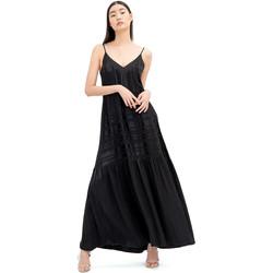 textil Dam Långklänningar Fracomina FR20SM546 Svart