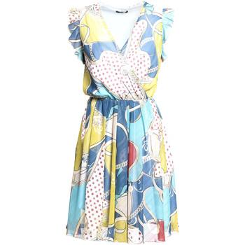 textil Dam Korta klänningar Fracomina FR20SM562 Blå