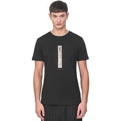 textil Herr T-shirts Antony Morato MMKS01766 FA100144 Svart